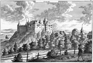 David Herrliberger - Schloss Kyburg - um 1740