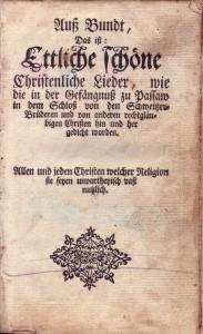 Titelblatt - Ausbund 1792