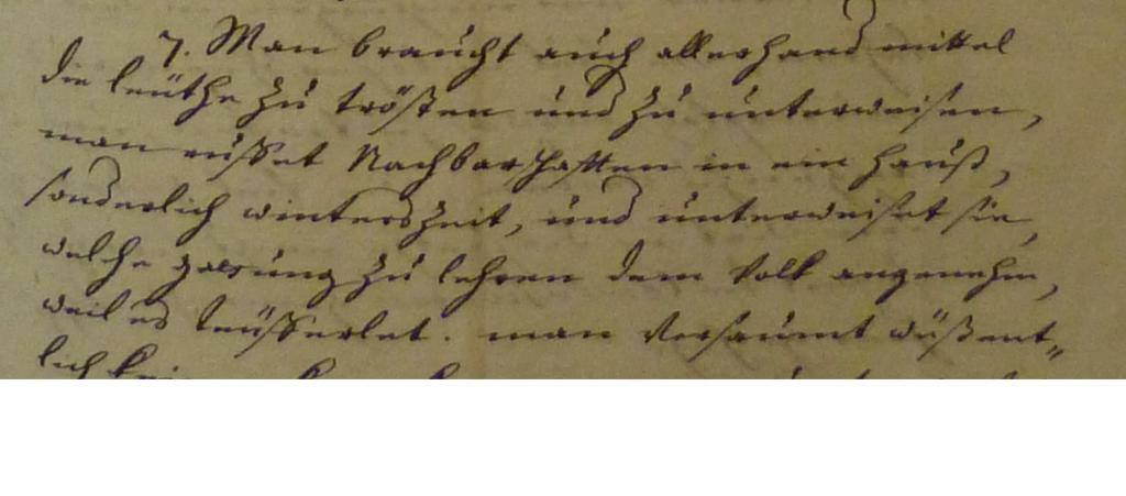 Brief Höchstetten 1714 - Ausschnitt