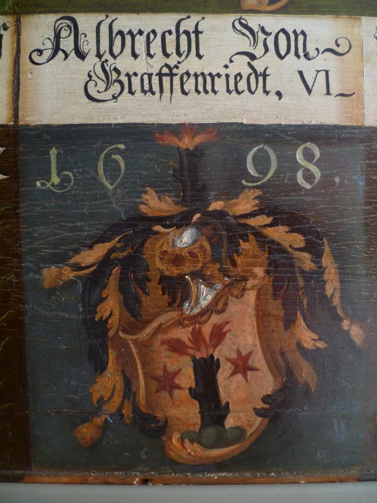 Tafel des Thuner Landvogts Albrecht von Graffenried (Schlossmuseum Thun)