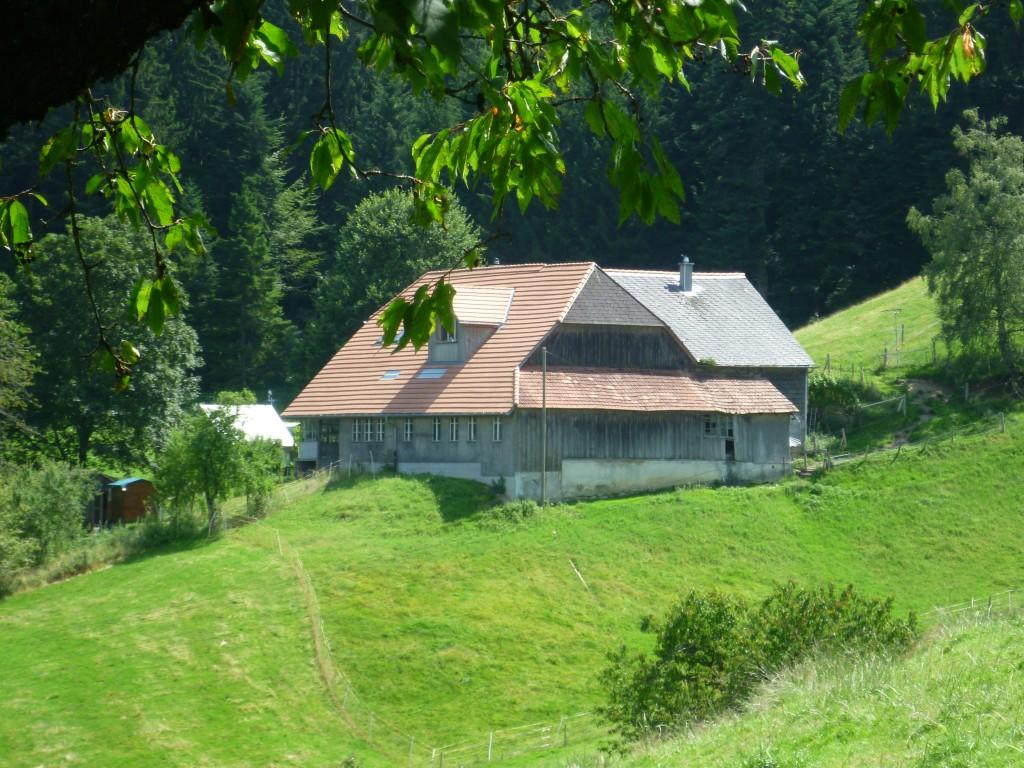 """Einer der beiden Chratzme-Höfe bei Landiswil, von wo 1671 der """"besonders widerspenstige"""" Täufer Ueli Liechti mit seiner Familie fliehen musste."""