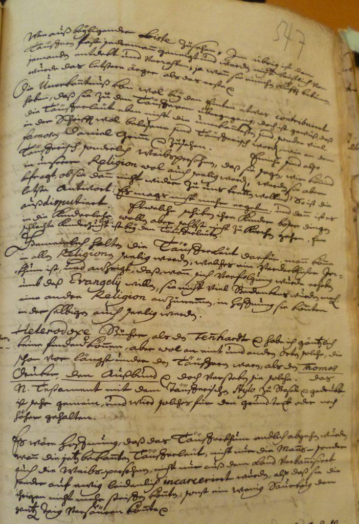 Ausschnitt des Briefes von Pfarrer Wyttenbach aus Langnau (Staatsarchiv Bern B III 122, 547)