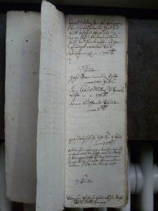 Geltstag-Rodel für Jakob Wisler von 1669 (StABE B III 194a)
